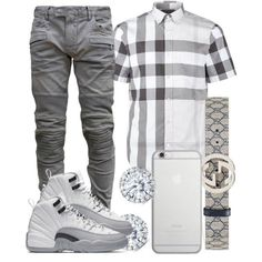 A menswear look from July 2016 by ebkkeef featuring Burberry Balmain Gucci Kobelli Native Union mens fashion and menswear Fashion Mode, Tomboy Fashion, Mens Fashion Shoes, Look Fashion, Fashion Menswear, Fashion Suits, Fashion Photo, Dope Outfits For Guys, Swag Outfits Men