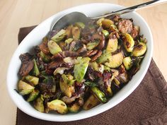 Brussels Sprouts, Radicchio, and Chorizo sauteed salad.