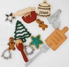Holiday Collection Christmas Cookie Baking Buttons