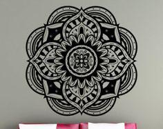 Mandala Wall Decal sticker Yoga Om Namaste Yoga by VandyVinyl