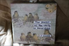 John Keats Canvas Quote by JaneAustenInspired on Etsy