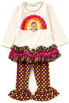 177de9c049b8a Rare Editions Baby Girls 3-24 Months Thanksgiving Pumpkin Stripe A-Line  Dress & Printed Leggings Set | children fashion | Printed leggings, Striped  leggings ...