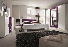 Vanessa v atraktivní bílo-fialové kombinaci rozzáří každou ložnici. http://www.mabyt.cz/10591-loznice-vanessa-bl.htm
