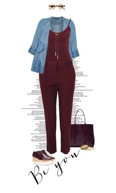 """""""Your Favorite Color: Burgandy"""" by dawn-scott ❤ liked on Polyvore featuring Evans, Lanvin, New Look, CÉLINE, STELLA McCARTNEY, House of Harlow 1960, Le Specs and plus size clothing"""