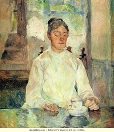 Toulouse-Lautrec - Portrait of Countess Adèle-Zoé de Toulouse-Lautrec, 1883 . Era su madre
