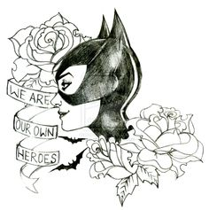 batman and catwoman tattoo - Google Search