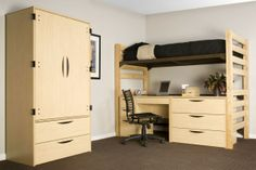 loft your bed and keep your desk/dresser underneath to create more space