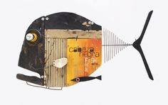 it wp-content uploads 2014 10 cabeza-negra-with. Metal Fish, Wood Fish, Fish Wall Art, Fish Art, Funny Vintage Ads, Felt Fish, Jr Art, Metal Art Projects, Fish Sculpture