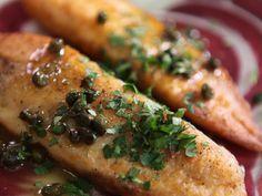 Fish Piccata recipe from Melissa d'Arabian via Food Network