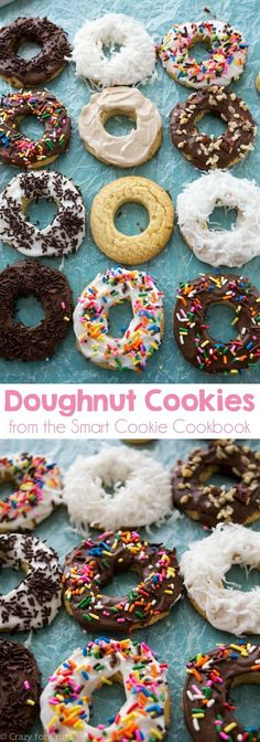 Doughnut Cookies - an EASY and fast recipe that starts with store bought cookies! Great for class parties!