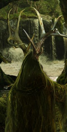 but the horned lord goes walking in the dark forest