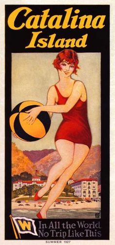 Catalina Island Beach Ball by Olde America Antiques. On The Road To California from Olde America Antiques Online. Travel Ads, Travel Brochure, Travel And Tourism, Vintage California, California Travel, Southern California, California Baby, Beach Posters, Cool Posters