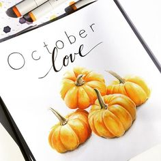 Copic Marker Art, Sketch Markers, Copic Markers, Fall Drawings, Halloween Drawings, Leaves Sketch, Pumpkin Decorating, Prismacolor, Autumn Leaves