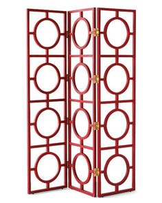 Antique Red  Wood Mandala Room Screen by  Arteriors Home $1249