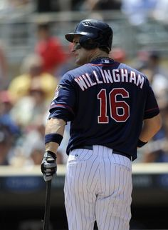 Josh Willingham #16 of the Minnesota Twins reacts to striking out against the Chicago White Sox during the second inning on June 27, 2012 at Target Field in Minneapolis, Minnesota. The White Sox defeated the Twins 12-5.
