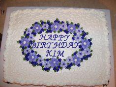 Purple flower birthday cake