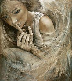 'Hush' | Art of Lidia Wylangowska | http://www.lidiawylangowska.com