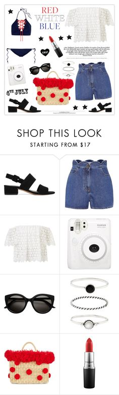 """""""Red, White & Blue: Celebrate the 4th!"""" by mars ❤ liked on Polyvore featuring Vince, Valentino, Accessorize, Nannacay, Sagaform, MAC Cosmetics, Jonathan Simkhai and fourthofjuly"""
