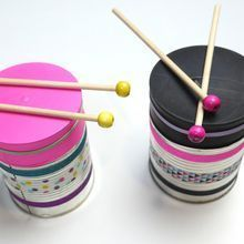 Drumming to the beatThis easy to make decorative drum can be. Drumming to the beatThis easy to make decorative drum can be made with just a f Music Instruments Diy, Instrument Craft, Homemade Musical Instruments, Drum Lessons For Kids, Drums For Kids, Music For Kids, Fall Crafts For Kids, Toddler Crafts, Diy For Kids