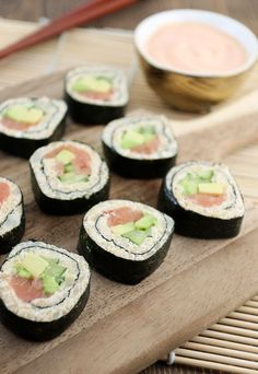 Keto Sushi is here and it's delicious! If you are a low-carber that misses sushi… Keto Sushi is here and it's delicious! If you are a low-carber that misses sushi, don't miss out on this recipe! Ketogenic Recipes, Low Carb Recipes, Diet Recipes, Cooking Recipes, Healthy Recipes, Slimfast Recipes, Fennel Recipes, Radish Recipes, Snacks