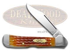 CASE XX Jigged Whiskey Bone Copperlock Stainless Pocket Knife Knives