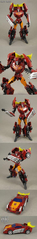 Custom Transformers Prime Hot Rod Figure by *Jin-Saotome on deviantART