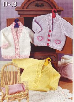 baby dolls clothes knitting pattern dolls cardigans baby reborn boy dolls girl dolls inch doll DK baby dolls knitting pattern pdf by Minihobo on Etsy Knitting Dolls Clothes, Baby Doll Clothes, Crochet Doll Clothes, Knitted Dolls, Doll Clothes Patterns, Doll Patterns, Pet Clothes, Crochet Dolls, Crochet Baby