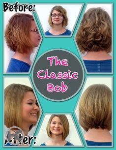 The bob is a hot hairstyle this summer and is even predicted to be trending throughout the fall! Make it your own by playing with variations such as the long bob, medium length bob, curly or straight! Have fun with it!