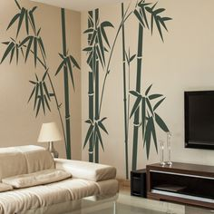 Vinyl Bamboo Wall Sticker bamboo Wall Decal Tree Wall Decor Wall Grpahic Home Art Decoration Dark Green ** Read more at the image link. (This is an affiliate link) Wall Mural Decals, Tree Wall Murals, Tree Wall Decor, Wall Stickers, Bamboo Wall, Bamboo Tree, Wall Painting Decor, Wall Design, Home Art