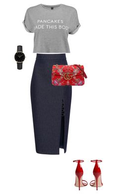 """""""Untitled #3"""" by matinafragou on Polyvore featuring Cushnie Et Ochs, Gucci and ROSEFIELD"""