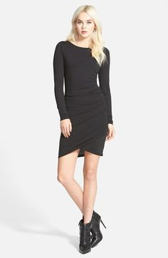 Leith Ruched Long Sleeve Dress (Nordstrom Online Exclusive) available at #Nordstrom