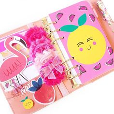 Planner Dashboard, fruit and flamingos