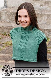 Knitting Patterns Free, Knit Patterns, Free Knitting, Free Pattern, Drops Design, Knit Cowl, Knit Crochet, Drops Kid Silk, Magazine Drops