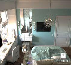 #bedroom #b_design #brodskaya #blue #white #bed #lamp #интерьер #дизайн #кровать #декор #бродская #голубой #бирюзовый #комната #арт #панно #art