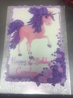 Pink and Purple Unicorn Cakes