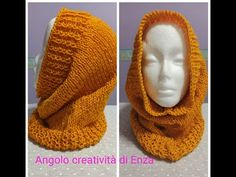 Collo / cappuccio ai ferri🧶Facilissimo - YouTube Knitted Hats, Beanie, Knitting, Youtube, Fashion, Cowls, Moda, Tricot, Fashion Styles