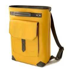 Kipso backpack in Yellow Handmade by Pickpocket Bags - Pickpocket - Leather Backpack - Travel Backpack