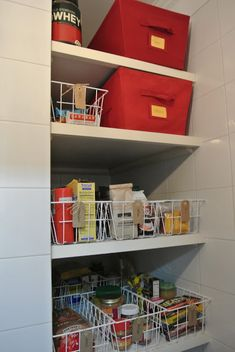 Organizing a pantry with deep shelves can be a challenge! Maximize your space and efficiency with these panty organization ideas that you can DIY. Pantry organization for a small pantry and food storage ideas. Deep Pantry Organization, Linen Closet Organization, Organization Ideas, Storage Ideas, Shelf Ideas, Diy Storage, No Pantry Solutions, Storage Solutions, Ikea
