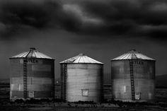 grain silo, farm, cole thompson, b, black and white, fine art photography, b photograph, b fine art photography