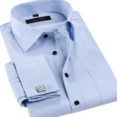Male French Cufflinks Shirt 2016 New Men's Shirt Long Sleeve Casual Men Shirts Slim Fit French Cuff Dress Shirts For Men