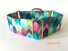 Collar perro zig zag colores, Collar martingale, Collar galgo, Martingale dog collar, Collares para perros, Correa perro, colores de 4GUAUS en Etsy