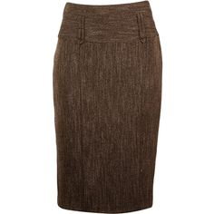 Chocolate pencil skirt ($34) ❤ liked on Polyvore