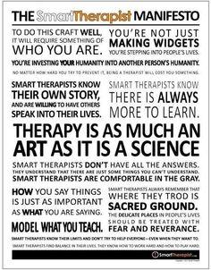 The Smart Therapist Manifesto
