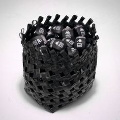 recycling, upcycling, as long as there is cycling in it, it must be cool ;) so we tried to upcycle some of our trash, check out this bicycle tube basket/bag for our lamps Basket Bag, Reuse, Lamps, Bicycle, Craft Ideas, Cool Stuff, Check, Crafts, Diy