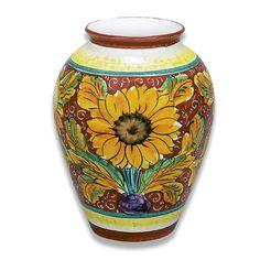 Girasole Vase - Italian Pottery Outlet