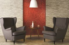 Add a #PopOfColor to your space with #VelvetBloom #mosaics. #MidAmericaTile #InnovativeLooks #glass #red #tile #color #FeatureWall
