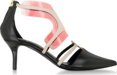 Black And Blush Leather And Pvc Shades Pump. Black and Blush Shades 70MM Pump crafted in supple nappa leather with PVC insert invoke the spirit of sunny days with the transparent PVC inserts adding a pop of elegantly energetic. #PierreHardy #Black,Pink #CourtsandPumps #Forzieri #Women #fashion #obsessory #fashion #lifestyle #style #myobsession #trend #lifestyle #highheels #awesomeshoes #women #fashionforwomen #trednsetter #luxury #party #partyshoes