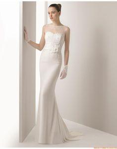 2015 Meerjungfrau Sexy Moderne Brautkleider aus Chiffon mit Applikation