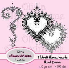Mehndi Henna Hearts
