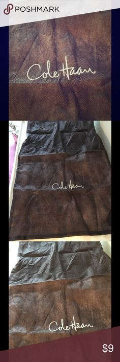 Cole Haan Brown Dust Bag For One Pair of Shoes Dust bag from Cole Haan that has one compartment for each shoe. Cole Haan Accessories Hosiery & Socks